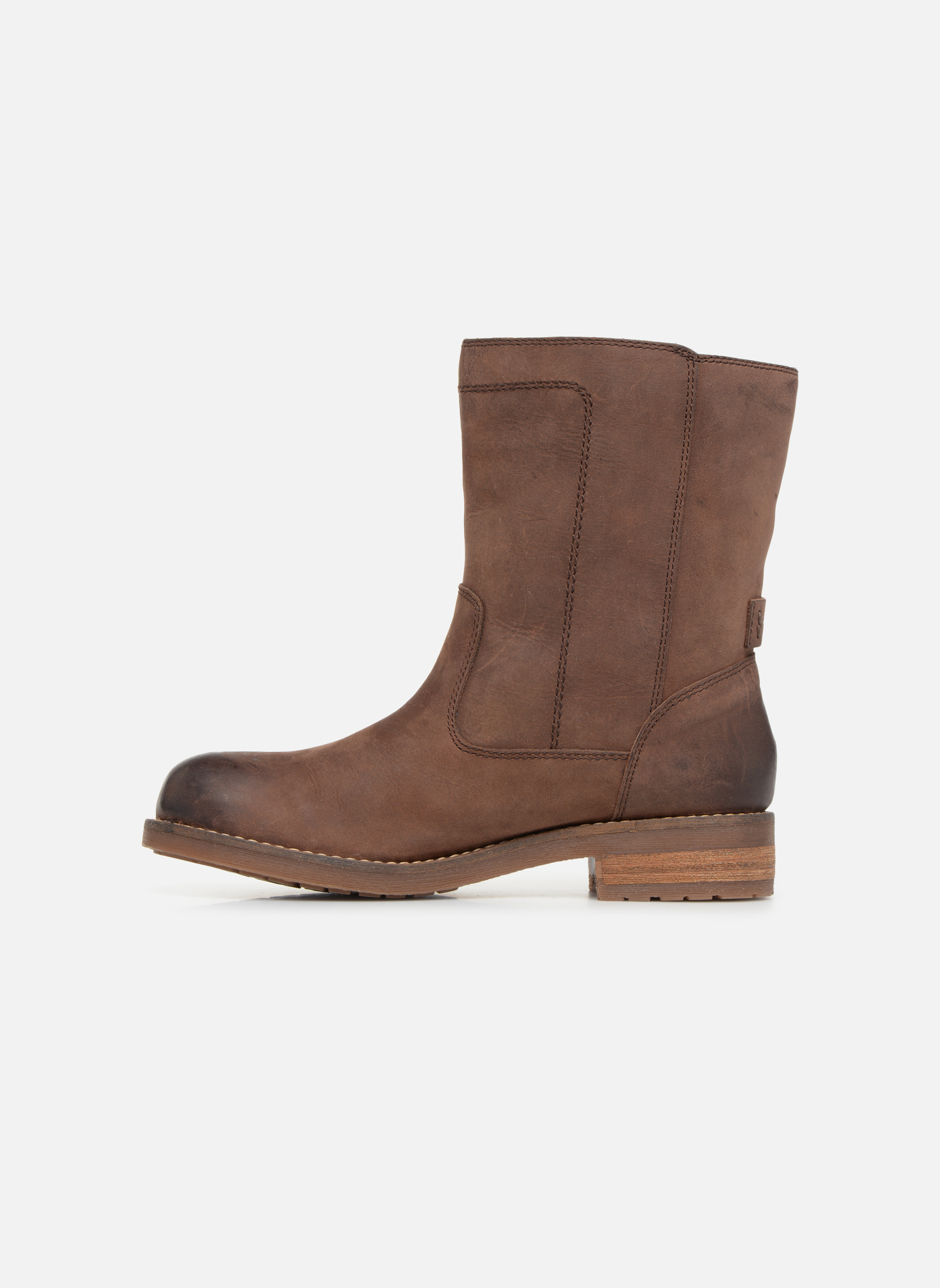 Boots en enkellaarsjes Geox D VIRNA B ABX D44N5D Bruin voorkant