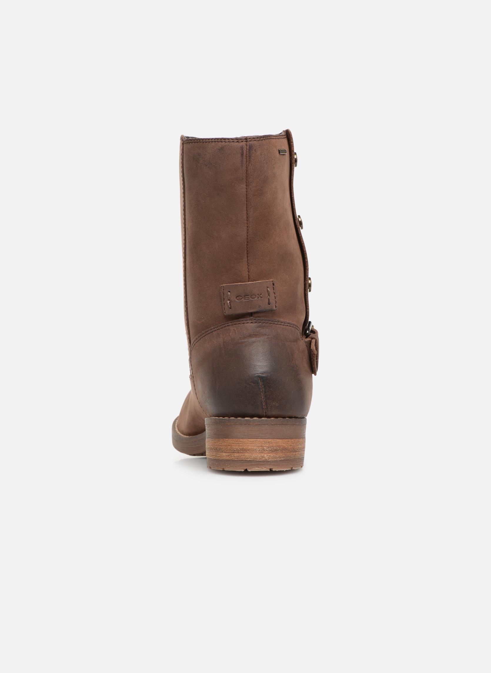 Bottines et boots Geox D VIRNA B ABX D44N5D Marron vue droite