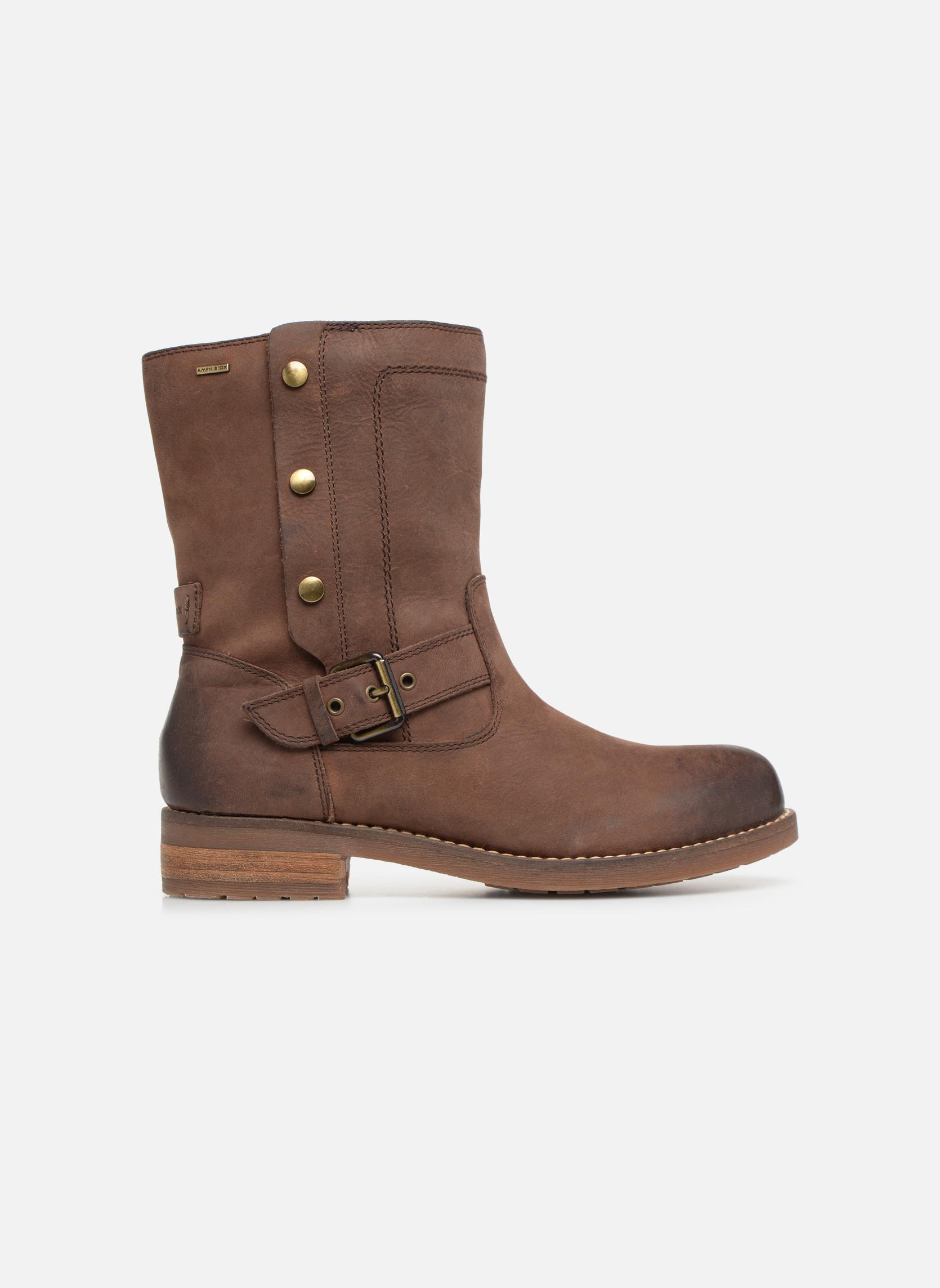 Boots en enkellaarsjes Geox D VIRNA B ABX D44N5D Bruin achterkant