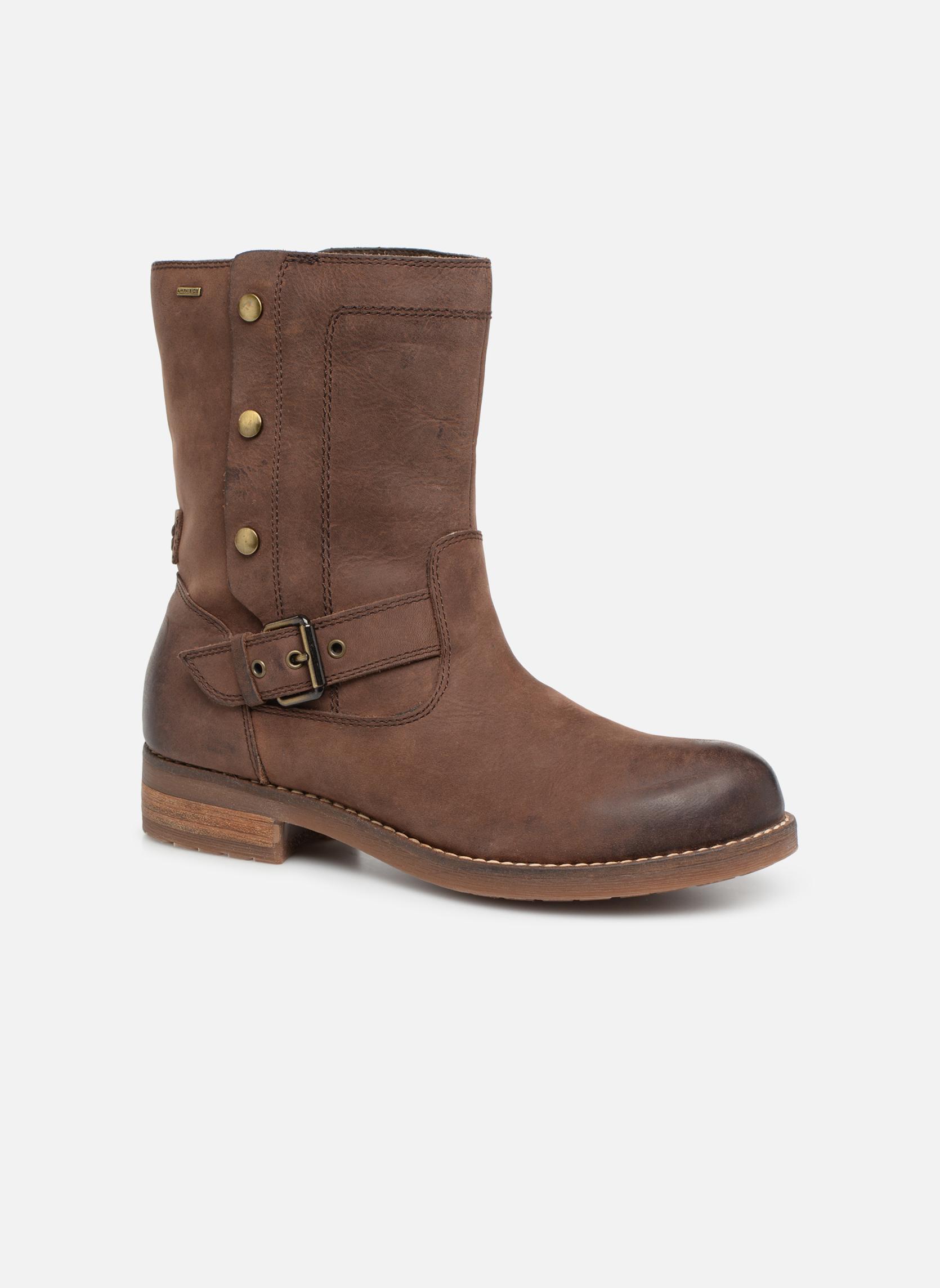 Bottines et boots Geox D VIRNA B ABX D44N5D Marron vue détail/paire