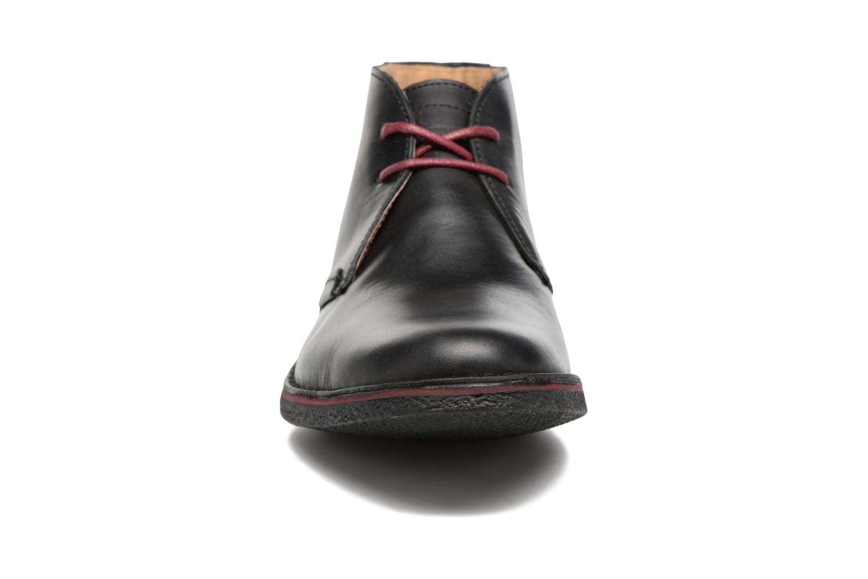 Schnürschuhe Kickers Mistic schwarz schuhe getragen