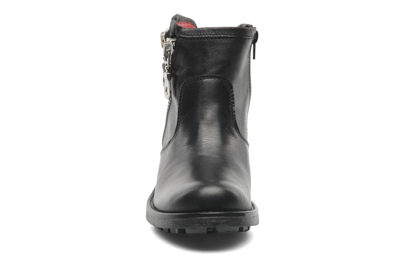 Boots en enkellaarsjes Pastelle Anna Zwart model
