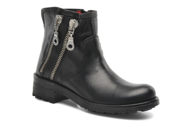 Boots en enkellaarsjes Pastelle Anna Zwart detail