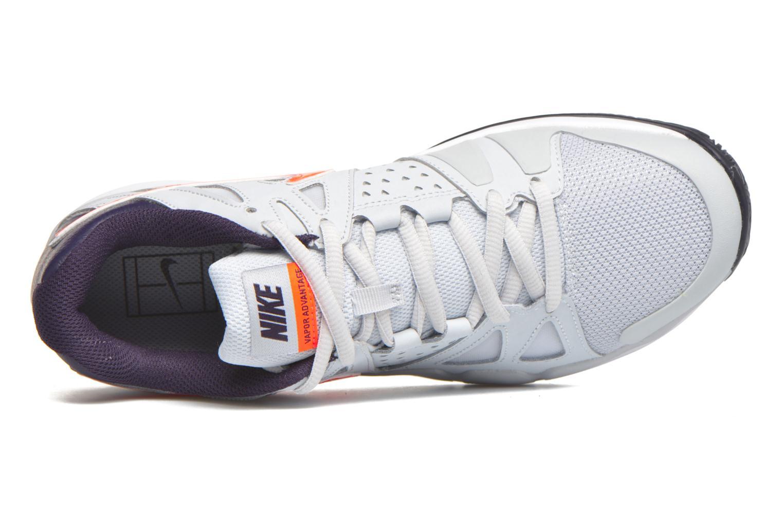 Nike Air Vapor Advantage Pure Platinum/Total Crimson