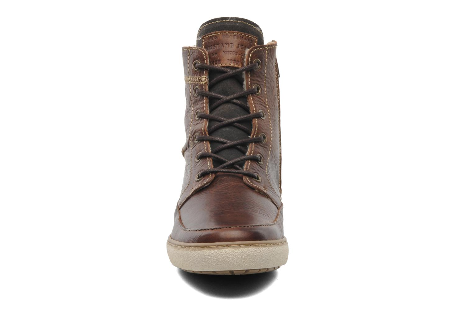 Ankle boots Mustang shoes Odor Brown model view