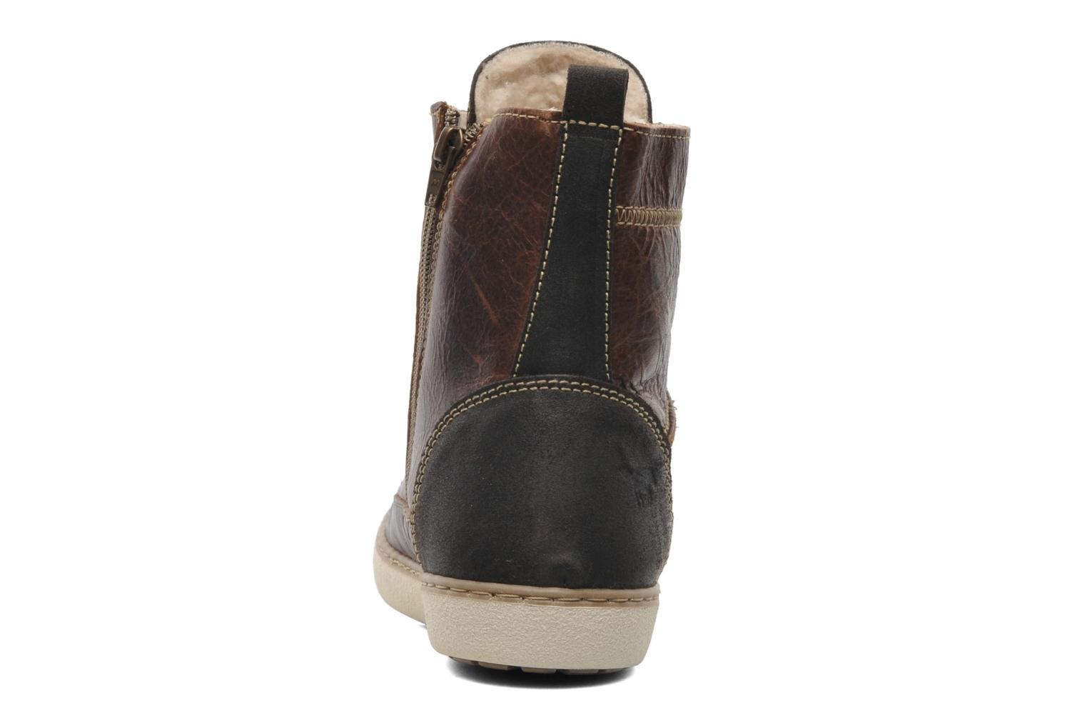 Ankle boots Mustang shoes Odor Brown view from the right