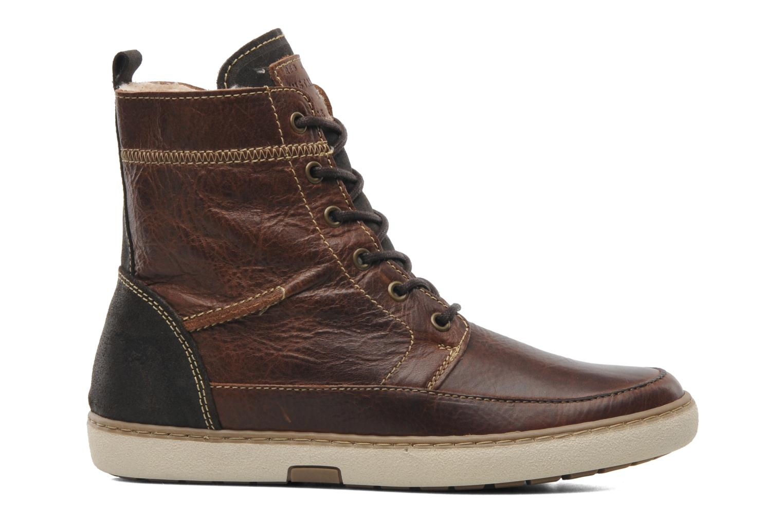 Ankle boots Mustang shoes Odor Brown back view