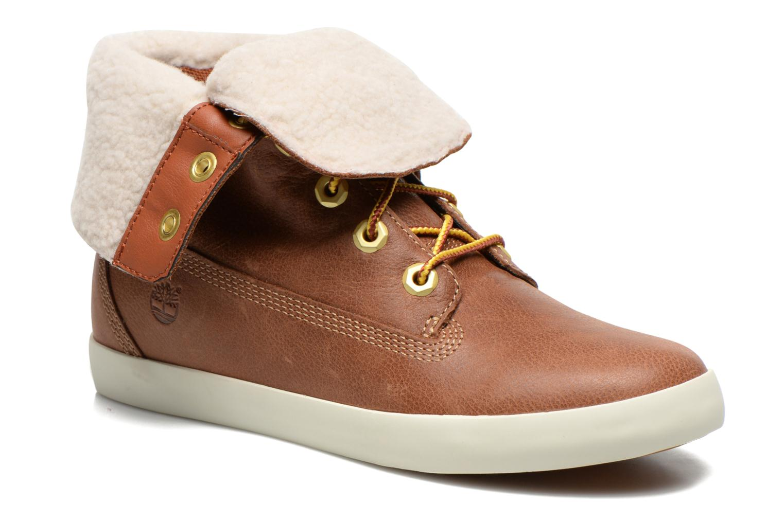 Bottines et boots Timberland Earthkeepers Glastenbury Fold-Down Marron vue détail/paire