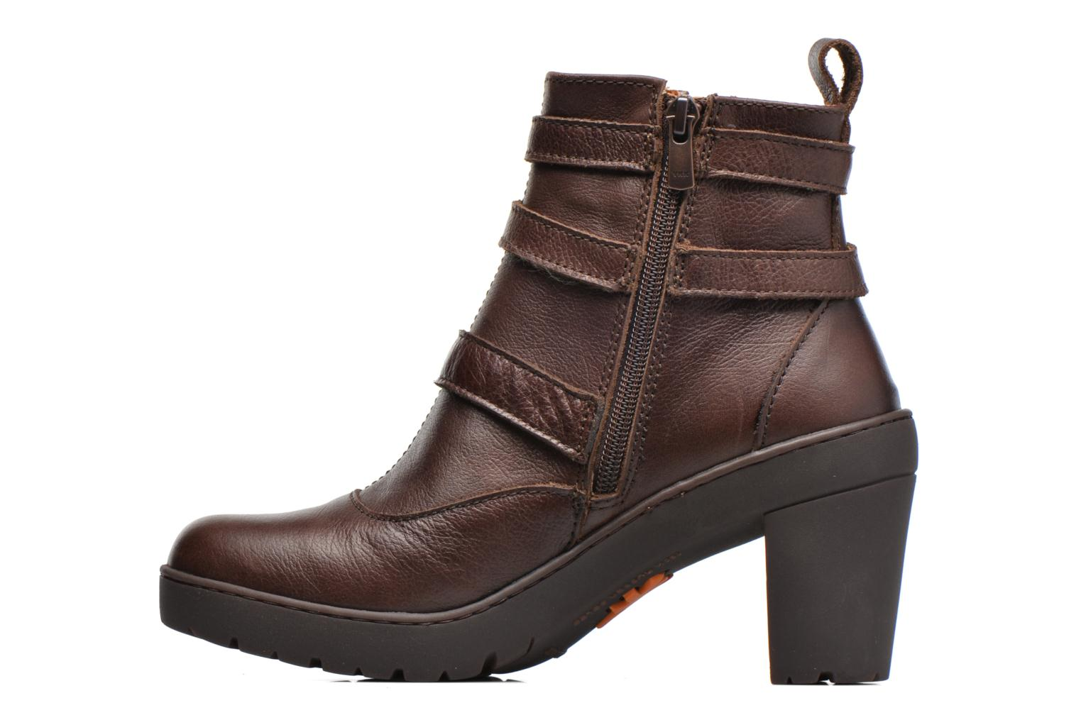 Ankle boots Art Travel 390 Brown front view