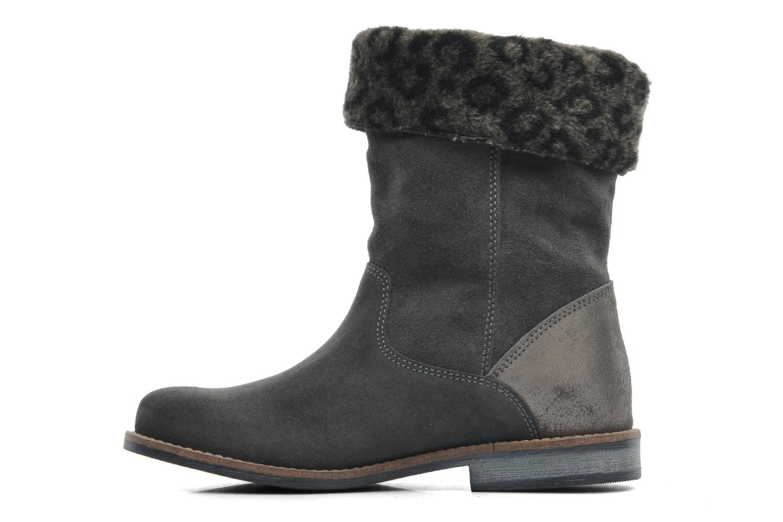Boots en enkellaarsjes Le temps des cerises Eva Fur Grijs voorkant