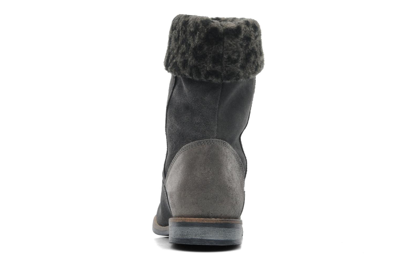 Boots en enkellaarsjes Le temps des cerises Eva Fur Grijs rechts