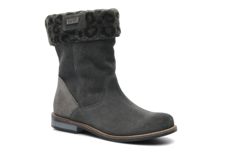Boots en enkellaarsjes Le temps des cerises Eva Fur Grijs detail