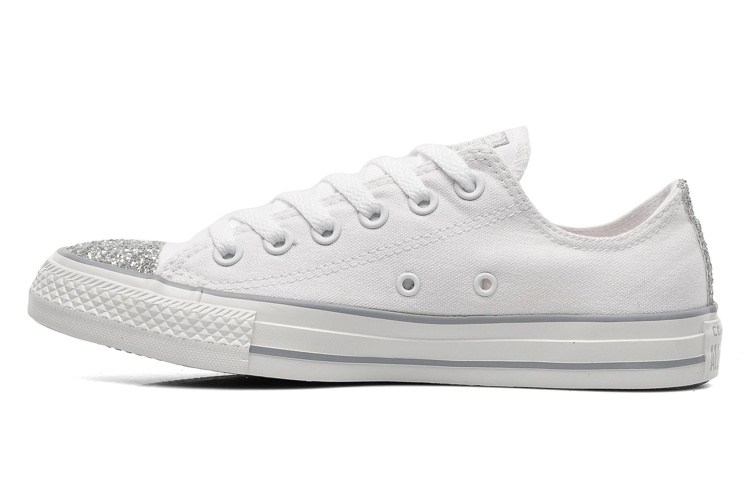 Sneakers Converse Chuck Taylor Toecap Sparkle Ox W Wit voorkant