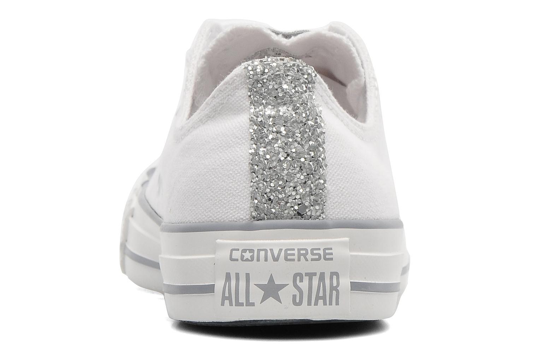 Sneakers Converse Chuck Taylor Toecap Sparkle Ox W Wit rechts