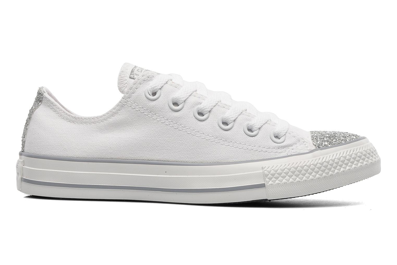 Sneakers Converse Chuck Taylor Toecap Sparkle Ox W Wit achterkant