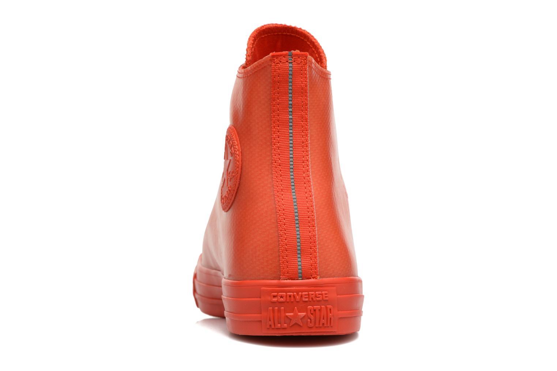 Sneakers Converse Chuck Taylor All Star Rubber Hi M Röd Bild från höger sidan