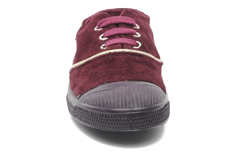 Baskets Bensimon Tennis Suedpiping E Bordeaux vue portées chaussures