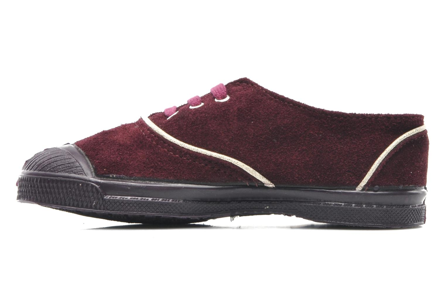 Trainers Bensimon Tennis Suedpiping E Burgundy front view