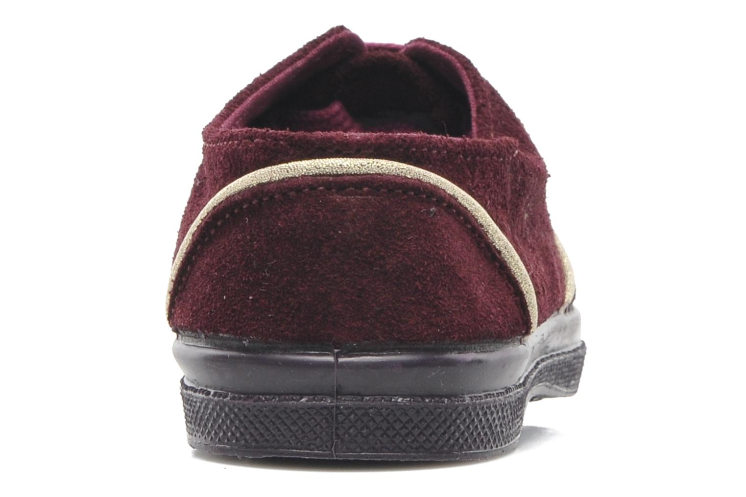 Trainers Bensimon Tennis Suedpiping E Burgundy view from the right