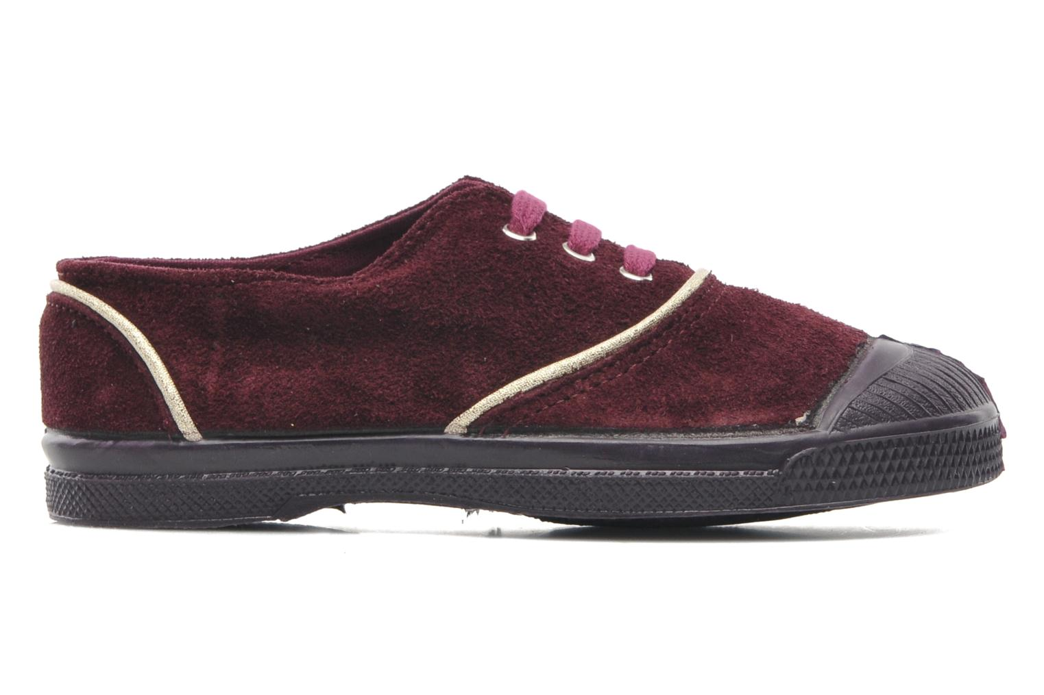 Trainers Bensimon Tennis Suedpiping E Burgundy back view
