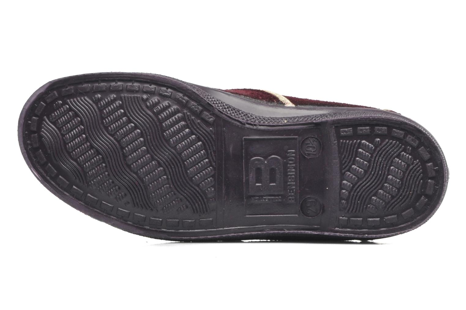Trainers Bensimon Tennis Suedpiping E Burgundy view from above