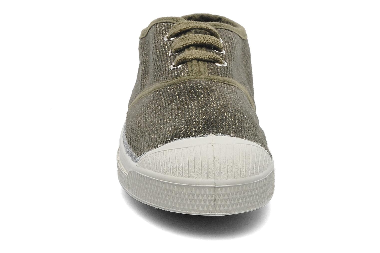 Baskets Bensimon Tennis Shinny E Vert vue portées chaussures
