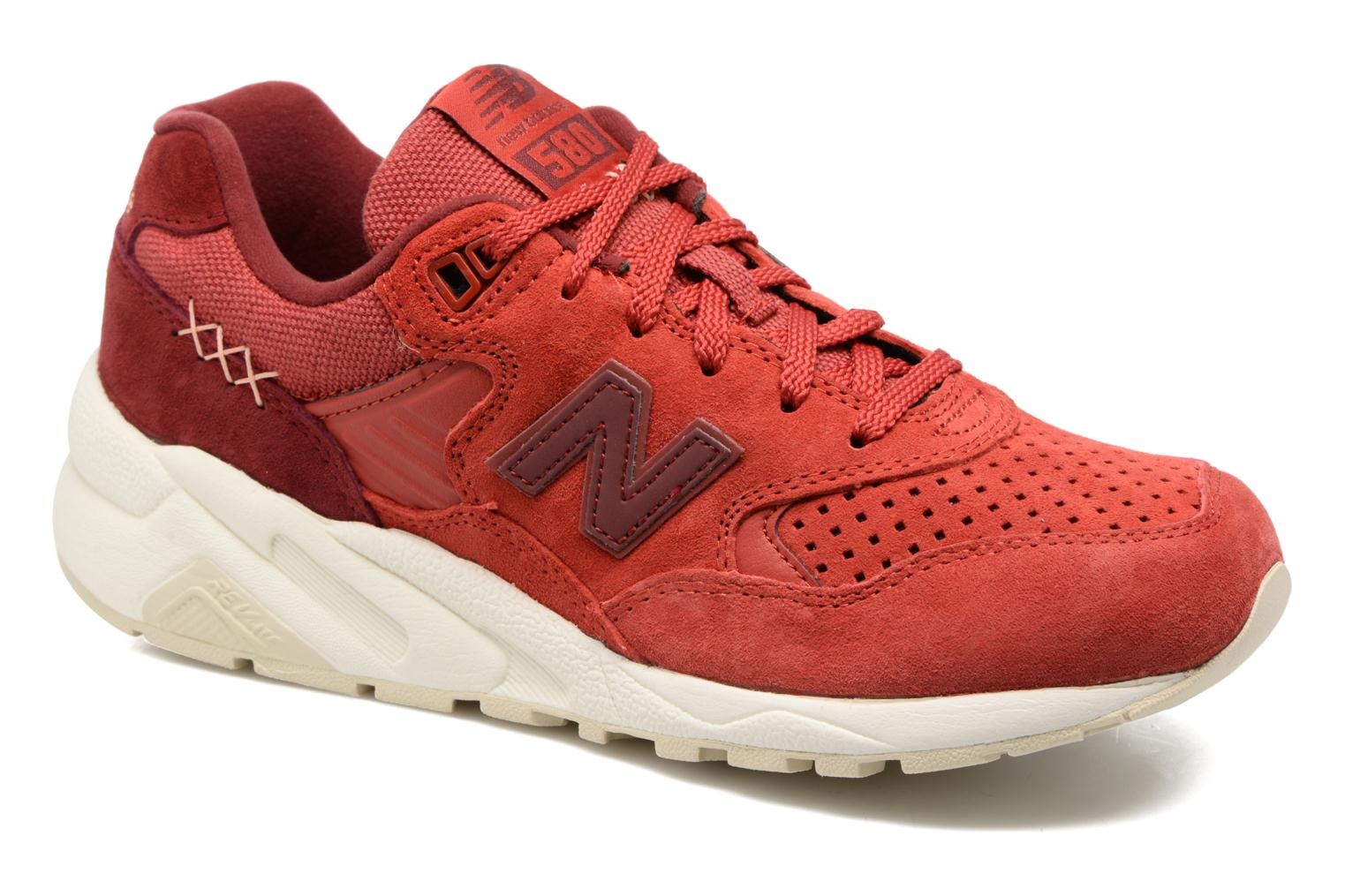 Baskets New Balance WRT580 Rouge vue détail/paire