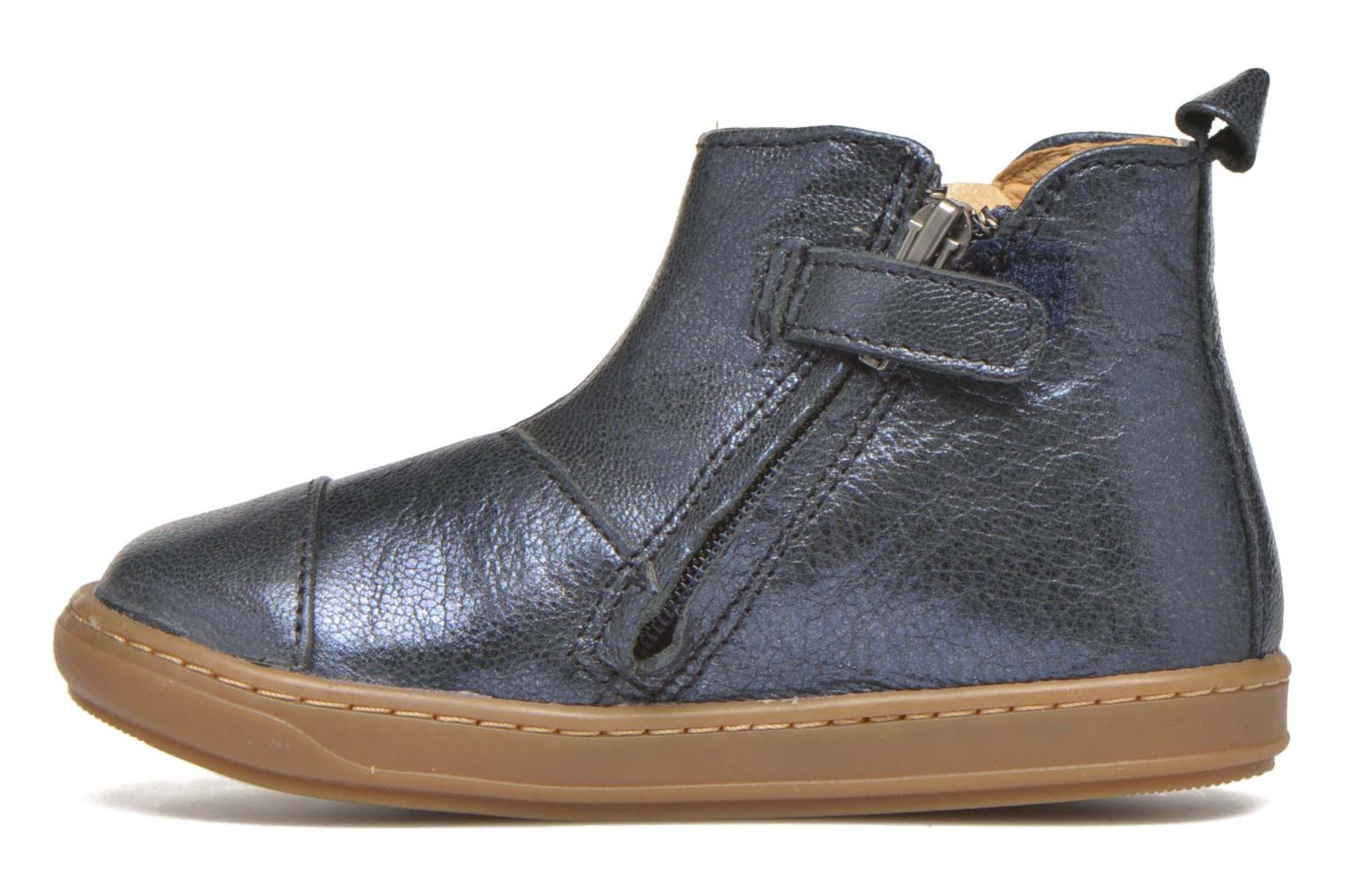 Ankle boots Shoo Pom Bouba Apple Blue front view