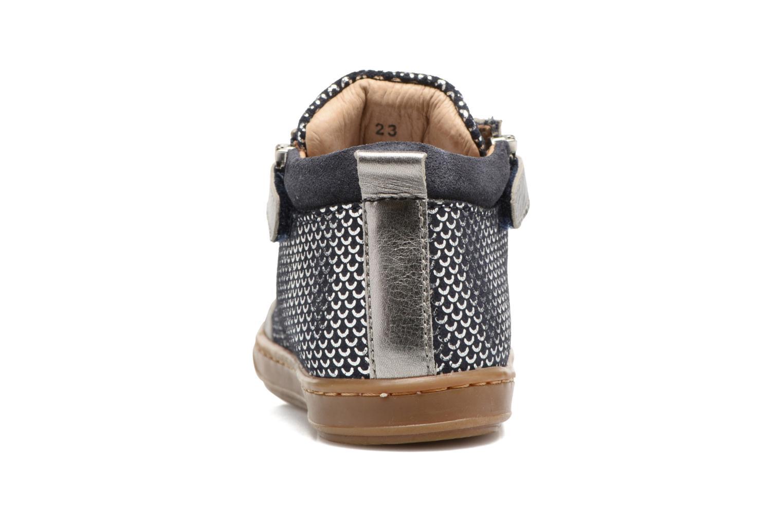 Bottines et boots Shoo Pom Bouba Bi Zip Argent vue droite