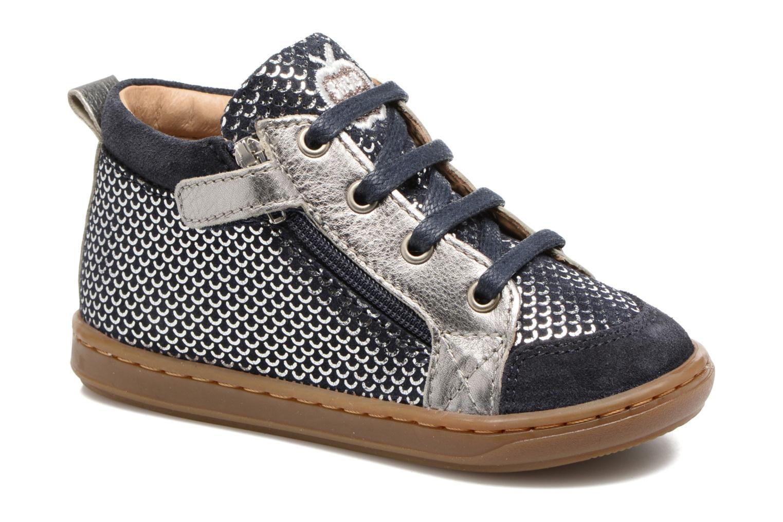 Bottines et boots Shoo Pom Bouba Bi Zip Argent vue détail/paire