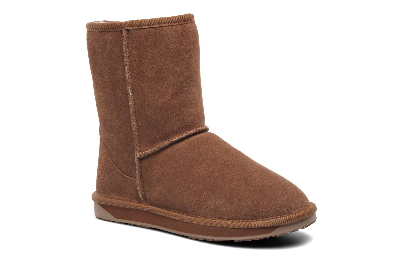 Ankelstøvler Boo roo Bliss Short Beige detaljeret billede af skoene