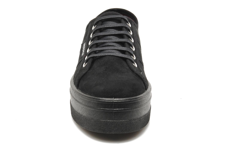 Schnürschuhe Victoria Blucher Antelina Plataforma schwarz schuhe getragen