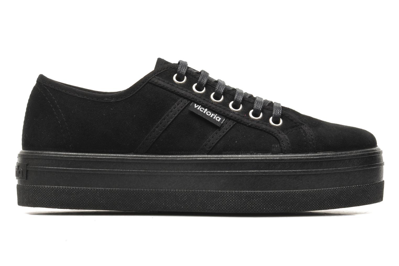 Zapatos con cordones Victoria Blucher Antelina Plataforma Negro vistra trasera