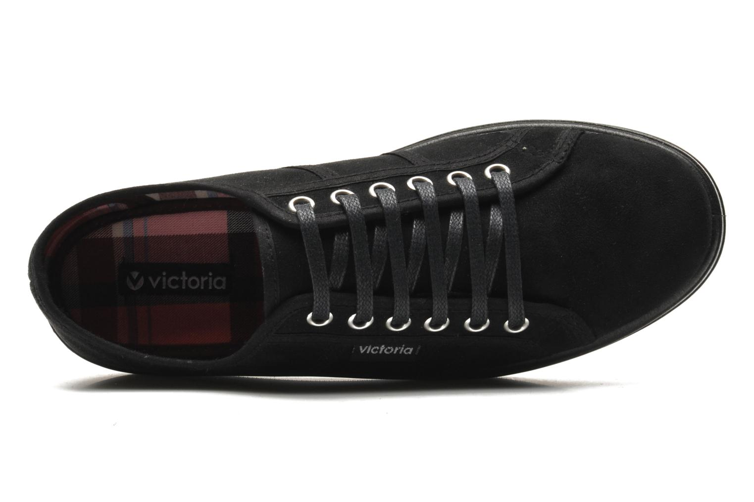 Lace-up shoes Victoria Blucher Antelina Plataforma Black view from the left