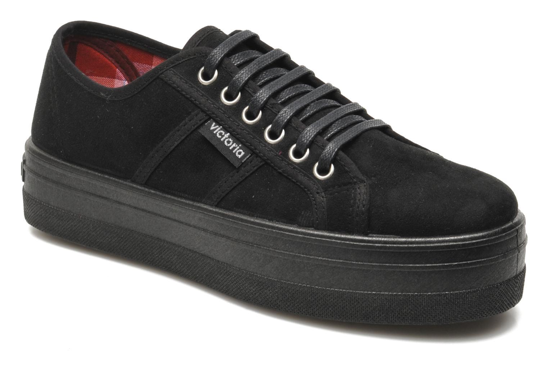 Victoria Blucher Antelina Plataforma (Noir) - Chaussures à lacets chez Sarenza (201862)
