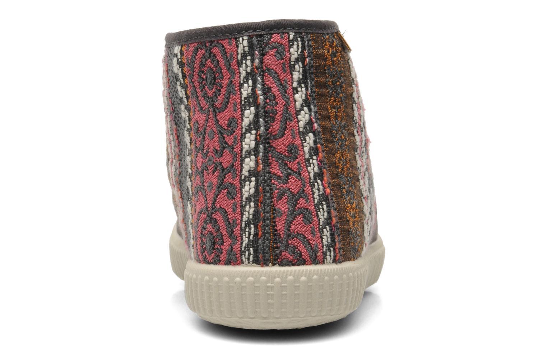 Baskets Victoria Safari Tejidos Etnicos Gris vue droite