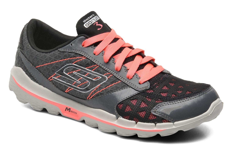 skechers go run 3. go run 3 13927 charcoal hot pink skechers go