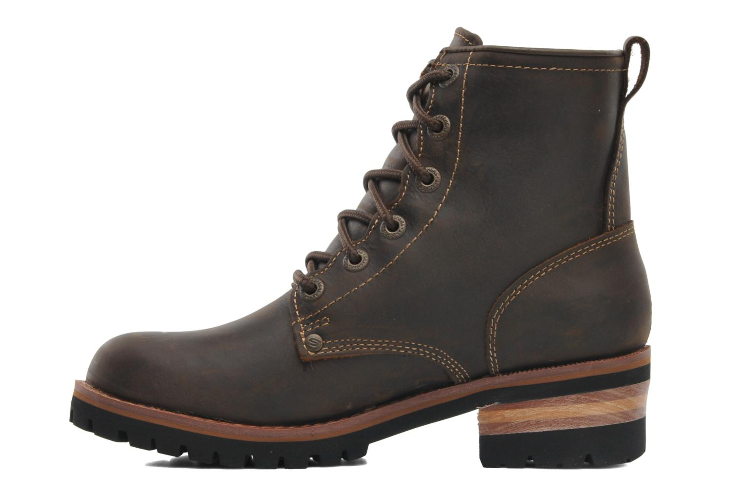 Ankle boots Skechers Laramie 2 47808 Brown front view