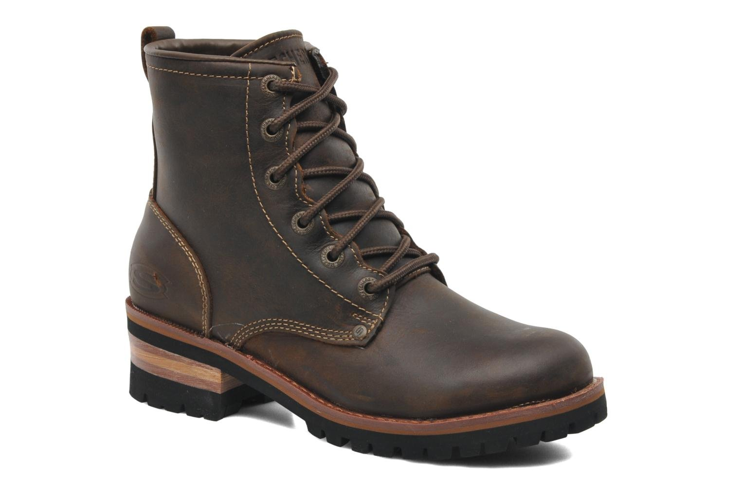 Ankle boots Skechers Laramie 2 47808 Brown detailed view/ Pair view