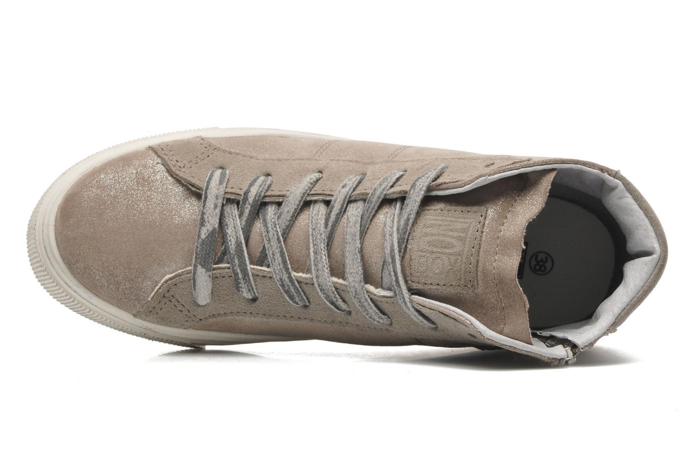 Sneaker No Box Bristol beige ansicht von links