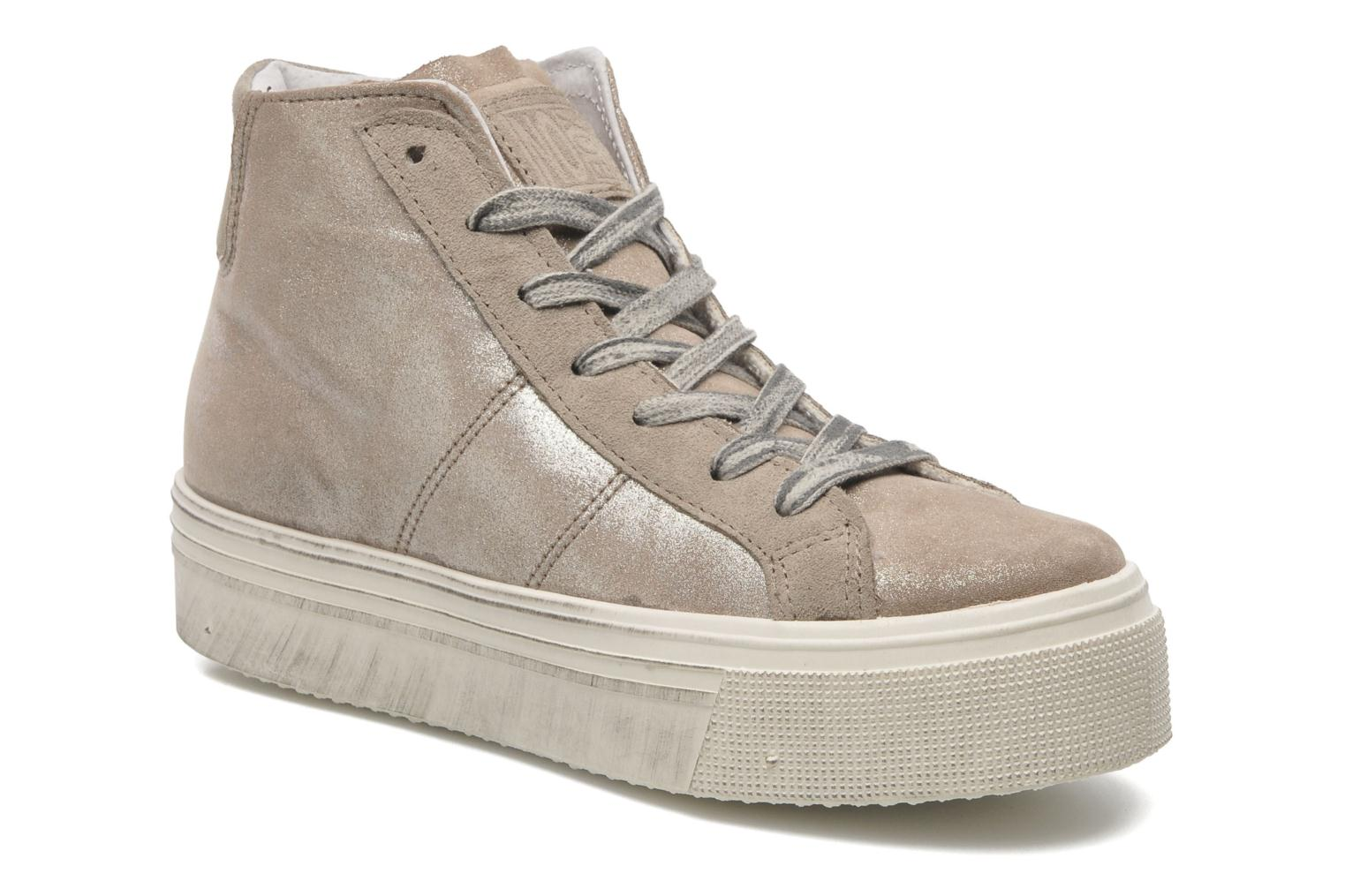 Baskets No Box Bristol Beige vue détail/paire