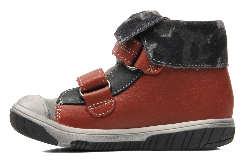 Zapatos con velcro Babybotte ARTIZOU Rojo vista de frente