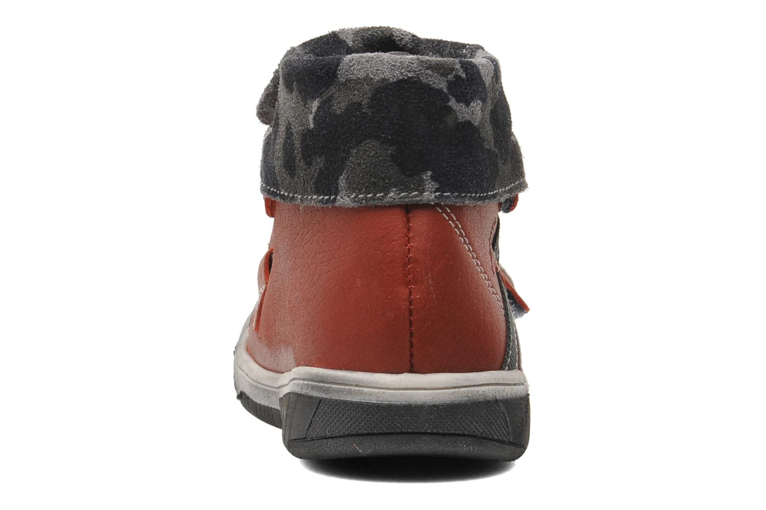 Velcro shoes Babybotte ARTIZOU Red view from the right
