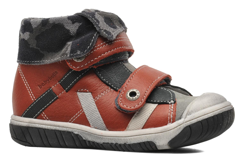 Zapatos con velcro Babybotte ARTIZOU Rojo vistra trasera