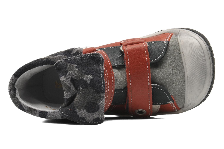 Chaussures à scratch Babybotte ARTIZOU Rouge vue gauche