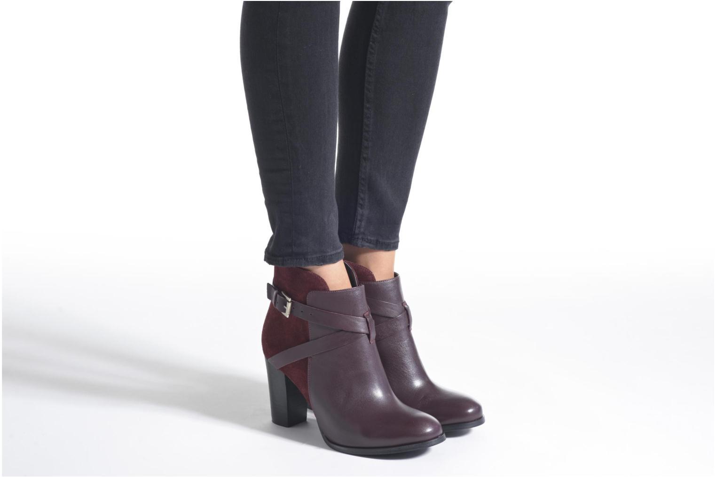 Bottines et boots Jonak Drakos Bordeaux vue bas / vue portée sac