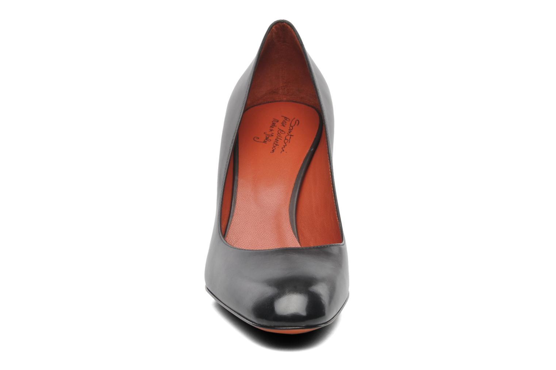 Bottines et boots Santoni Moss 53259 INVISIBLE MAUVAISE REF Noir vue portées chaussures