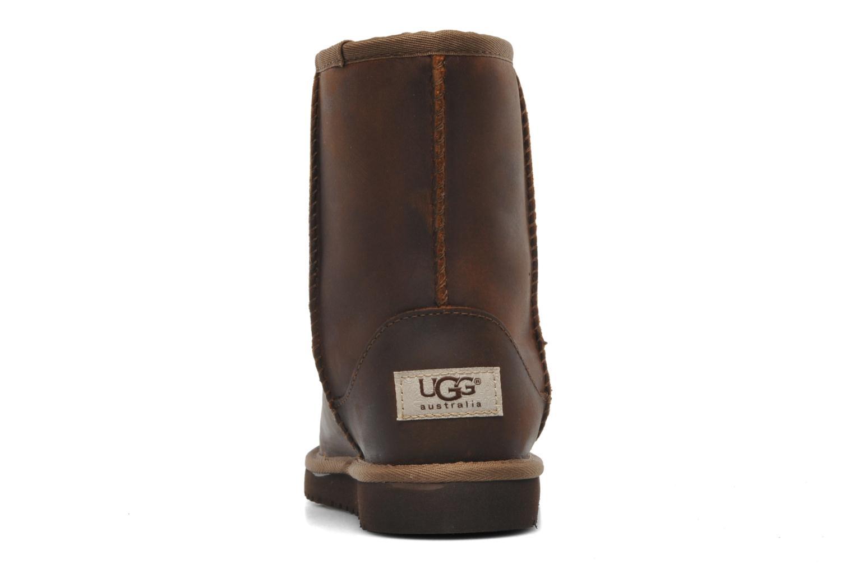 Stiefel UGG K Classic Short Leather braun ansicht von rechts