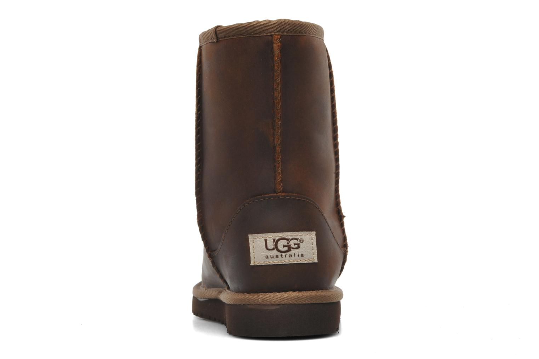 Laarzen UGG K Classic Short Leather Bruin rechts