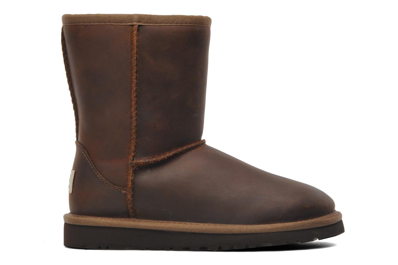 Laarzen UGG K Classic Short Leather Bruin achterkant